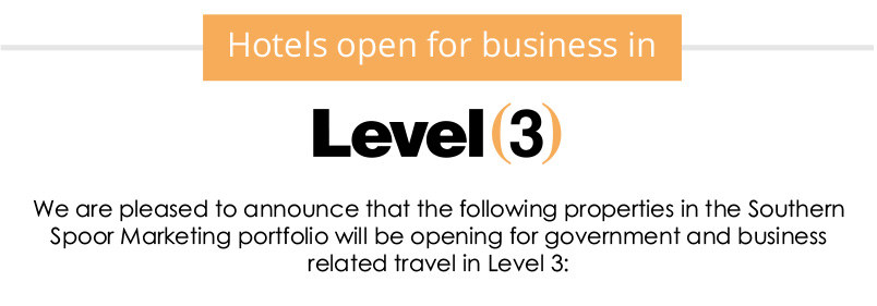 Hotels open for business in Level 3