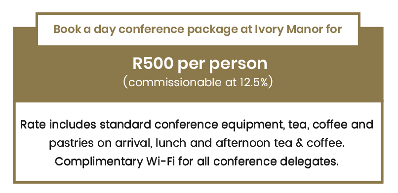 VIP conference promotional offer at Ivory Manor Boutique Hotel