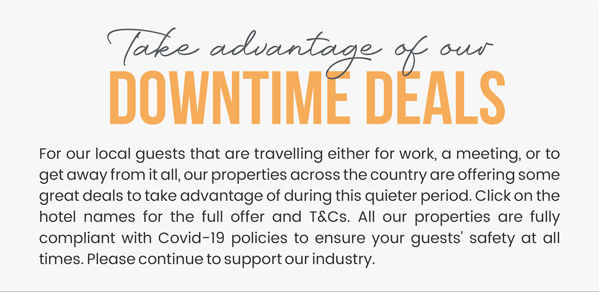 Take advantage of our downtime deals