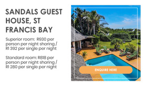 SANDALS GUEST HOUSE, ST FRANCIS BAY