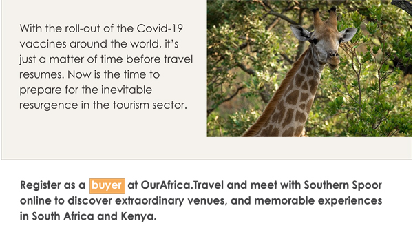 Register as a buyer at OurAfrica.Travel