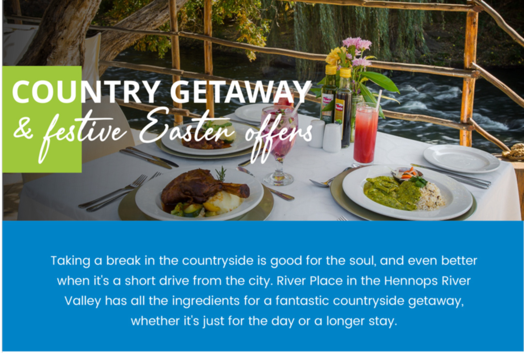 Country getaway and festive Easter offers